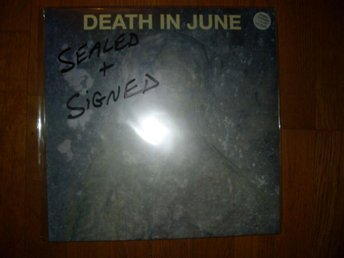 DEATH IN JUNE Take Care And Control LP+CD NY! INPLASTAD SIGNERAD NUMREDAD 2000EX