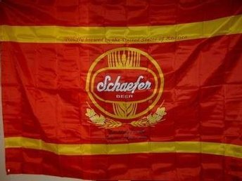 Vintage Schaefer Brooklyn NY Beer Wall Large Banner Nylon Flag 152cm x 213cm