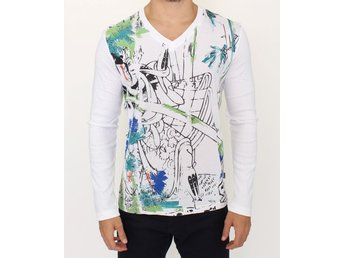 Cavalli - White cotton pullover sweater
