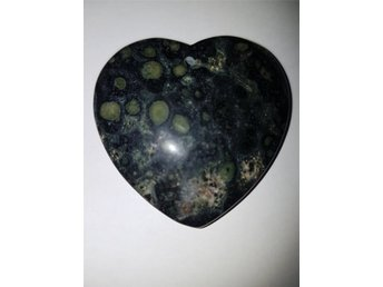 Black Green Agate Heart Pendant 46 x 43 x 3mm Hänge