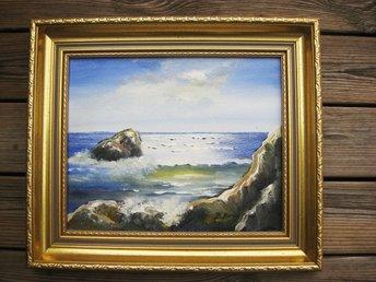 Handmålad tavla - Öppet hav 120x60 (290402571) ᐈ GrandDecor på Tradera 29a37af702efa