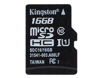 Kingston Tf Kort 16g Minneskort Microsd Kortmin 390267896 ᐈ