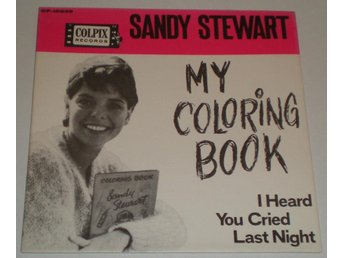 Sandy Stewart SINGELOMSLAG My coloring book 1963/4 M-