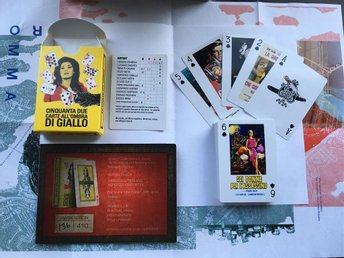 Giallo themed playing cards (Dario Argento, Mario Bava etc.)