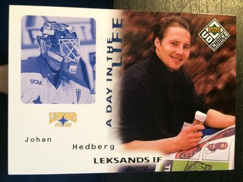 1998-99 Upper Deck Choice A Day In The Life #DL6 Johan Hedberg Leksand - Torshälla - 1998-99 Upper Deck Choice A Day In The Life #DL6 Johan Hedberg Leksand - Torshälla