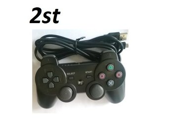 2st Wired PS3 Controller Handkontroll Playstation 3 ej Trådlös - Svart