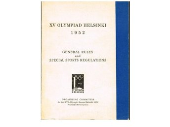 XV OLYMPIAD HELSINKI 1952 General rules and Special Sports R