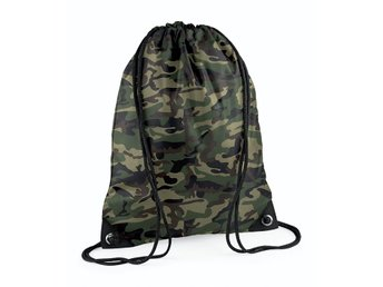 Gymsäck, klassisk gympapåse, Jungle Camo