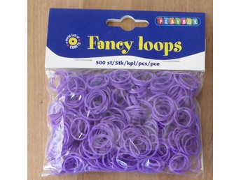 500 st Gummiband Fancy Loops, LILA