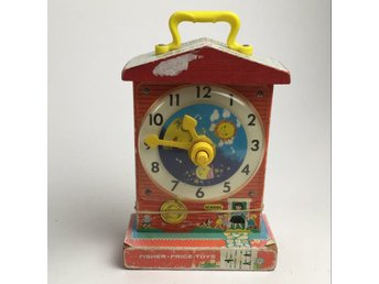 Fisher Price, Leksak, Music box teaching clock, Flerfärgad