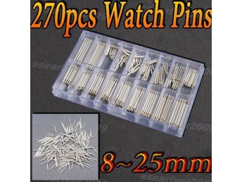 New 270 pcs Watch Spring Bar Strap Link Pins Tools Sets