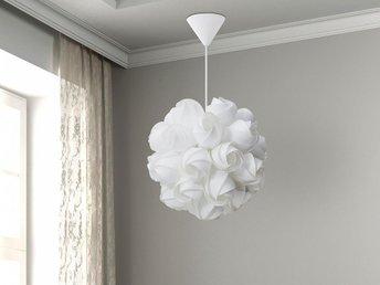 Belysning Webbutik : Modern taklampa vit hängande lampa belysning alva på tradera
