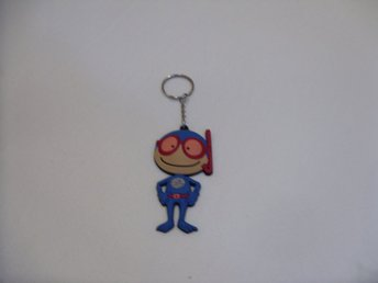 Nyckelring Dykare gubbe med snorkel keychain & keyring Diver man