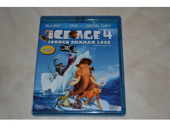Ice Age 4 Jorden Skakar Loss Bluray & DVD 2012 Nyskick