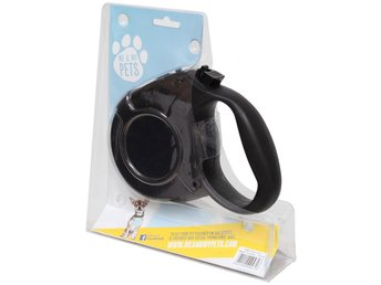 ME & MY BLACK 5M STRONG EXTENDABLE/RETRACTABLE & LOCKABLE DOG WALKING LEAD/LEASH