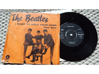 "THE BEATLES I Want To Hold Your Hand 7"" 1963 SWEDEN"