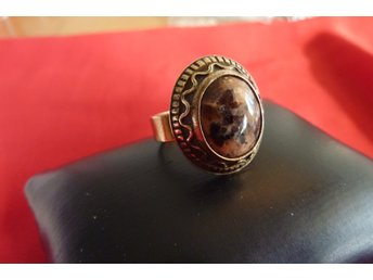 Design Made in Finland öppningsbar ring bronze med sten retro vintage Kalevala