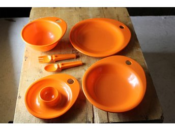 Baby set orange per alimenti  Mister Baby retro