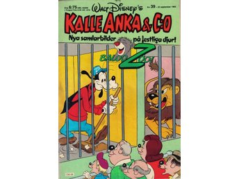 Kalle Anka & Co nr. 39 23:e September 1985 Walt Disney´s
