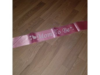 Mom to be band rosa. Babyshower. Nytt.