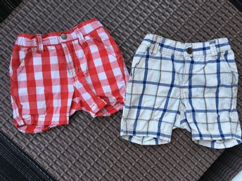 2 st shorts pop och h&m strl 80