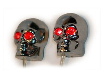 Scary Skulls Red