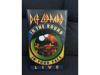 Def leppard VHS live in the round in your face