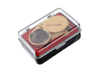Golden 30 X 21mm Jeweler Loupe Magnifying Eye Glass Magni...