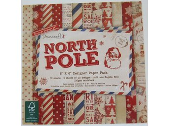 Scrapbooking papper 15 x 15 - North Pole - 12 ark