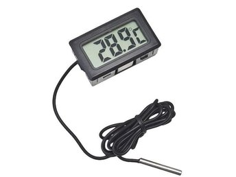 NY! intelligent Digital LCD Termometer /  display Svart