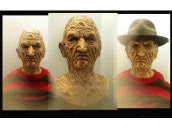 NIGHTMARE ON ELM STREET FREDDY KRUEGER REALISTISK SILIKON MASK  HORROR SKRÄCK