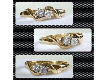 En mycket söt diamantring i 9K guld med naturliga diamanter 0,20ct! - Trollhättan - En mycket söt diamantring i 9K guld med naturliga diamanter 0,20ct! - Trollhättan