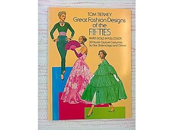 KLIPPDOCKOR MODE -50talet TOM TIERNY - BOK / FASHION PAPER DOLLS BOOK OF THE 50s