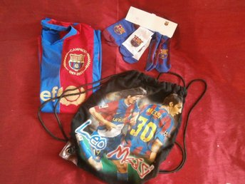 FC Barcelona merch: blus , bag/påse , strumpor (nya)