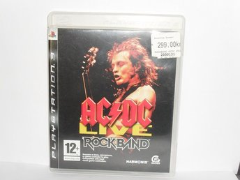 sony playstation 3 ps3 spel ACDC live Rockband
