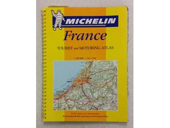 Bok MAPS MICHELIN FRANCE Tourist & motoring atlas Full index of comunes 50 towns