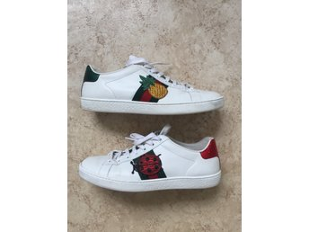 Gucci New Ace Pineapple-Embellished Leather Trainers 38