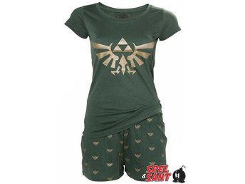 Nintendo Hyrule Triforce Pyjamas Sett Grön (Medium)