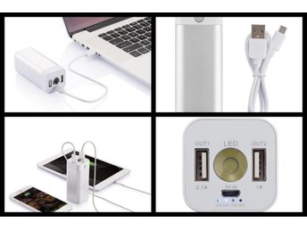 NY - 8.000 mAh anodized powerbank, silver