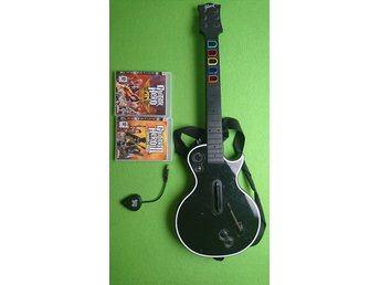 Guitar Hero Gitar med 2 Guitar Hero spel till Playstation 3 PS3