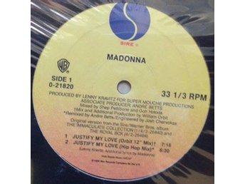 "Madonna title* Justify My Love* Trip Hop, Disco 12"" US"
