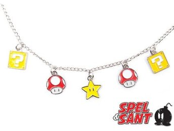 Nintendo Super Mario Power Up Berlocker Halsband
