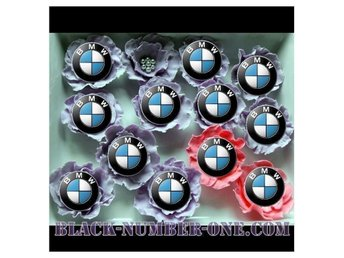 BMW cupcake / muffin toppers - kaka dekoration