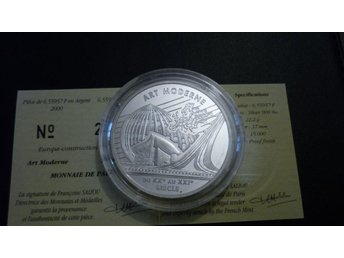 Frankrike 6,55957 Francs 2000 Proof silver - Modern Art