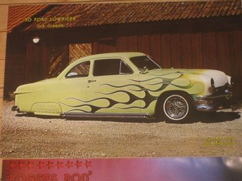 COLOROD affischer Hot Rod Ford 1950 A-Ford Chevrolet Nomad 55
