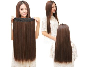 Fashion 3/4 Clip In Hair Extensions with 5 clips long, Straight light brown - Kowloon Bay - Fashion 3/4 Clip In Hair Extensions with 5 clips long, Straight light brown - Kowloon Bay