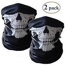 GRATIS FRAKT! 2-PACK SCULL TUB BANDANA FOR THE HARLEY RIDER  HD