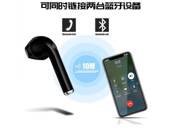 I7 Sport Bluetooth Headset Örhängen 4.1 Wearing Stereo Black Single Ears