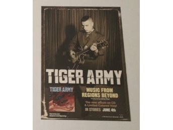 Tiger Army - Music From Regions Beyond - Poster - 30x42cm