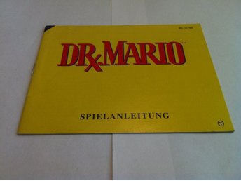 NES: Manualer: Dr. Mario (End. manual -Tysk)